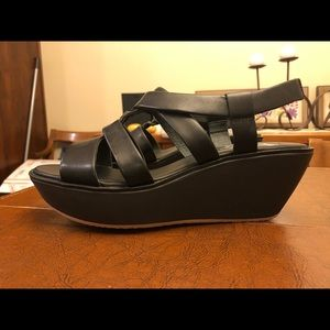 Camper Leather Wedges